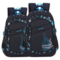 MC319 - Cushion Padded Quality Plain Black Design Primary School Bag / Comfortable Student Backpack YK2