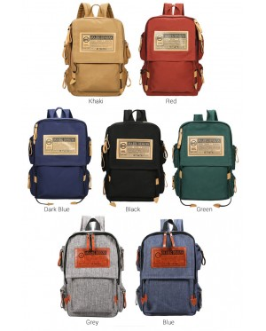mc320 - Trending Stylish Design Multi-Pockets Casual Daily Quality Canvas Backpack CK1