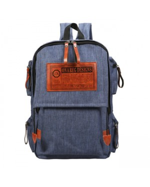 mc320 - Trending Stylish Design Multi-Pockets Casual Daily Quality Canvas Backpack YK2