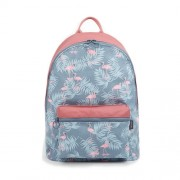 mc321 - Pinky Blue Flamingo Fashion Design Casual Backpack / Cool College Student Bag CK1  (Free Gift)