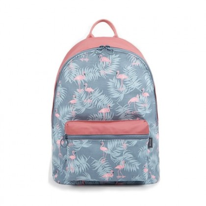 Pinky Blue Flamingo Fashion Design Casual Backpack / Cool College Student Bag MC321/Cosmetic