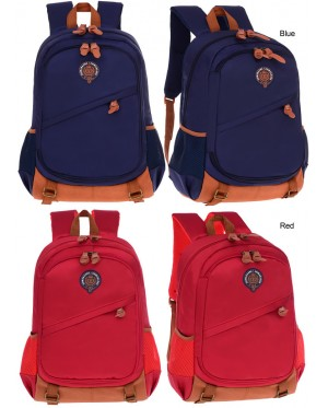 mc318 - British Style Cushion Padded Spine Protective Mutli-Pockets Primary School Student Backpack BK1 (Free Gift)