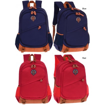 MC318 British Style Cushion Padded Spine Protective Mutli-Pockets Primary School Student Backpack