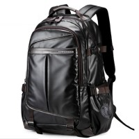 Man Coated Shinny Fabric Cool Design City Urban Daily Convenient Backpack YF1 MC326