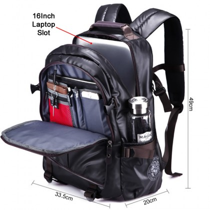 MC326 Man Coated Shinny Fabric Cool Design City Urban Daily Convenient Backpack