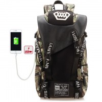 MC327 - Forest Camouflage Stylish Large Adventure Backpack / College Student Bag DK1