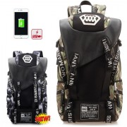 MC327 - Forest Camouflage Stylish Large Adventure Backpack / College Student Bag YN1