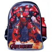 mc324 - Newest Cool Ironman Hulk Buster Design Kids Favorite Avenger School Backpack G2