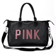 MC336 - Quality Shinning Glitter Pink Fashion Travel Sling Bag YB1