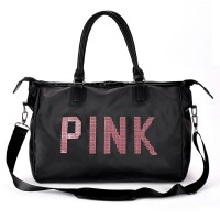 MC336 - Quality Shinning Glitter Pink Fashion Travel Sling Bag