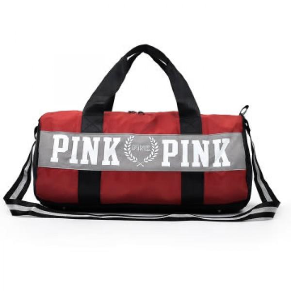 Gym Bag Stylish: High School Stylish Travel Pouch Pink Design Gym