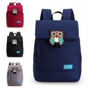 Superior Durable Canvas Cute Owl Logo Daily Backpack mc353 H1