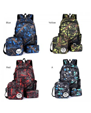 3 in 1 Unisex Cool Grable Design Nylon Daily Backpack mc356 RE5