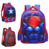 3D Muscles Superhero Suit Primary School Kids Favorite Backpack mc359 RA6