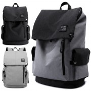 Unisex City Elite Urban Design Simple Black / Grey Laptop Backpack mc345 MK1 (Free Gift)