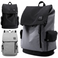 Unisex City Elite Urban Design Simple Black / Grey Laptop Backpack mc345 YR1
