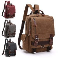 Unisex Cool Casual Canvas Durable Backpack MC348 CK2 (Free Gift)