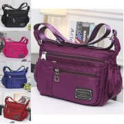 Woman MultiColor Multiple Pockets Convenient Durable Light Weight Nylon Sling Bag MC346 RA2
