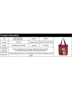 Woman MultiColor Convenient Durable Canvas Cute Kitty Wool Shoulder Bag MC377 RA5
