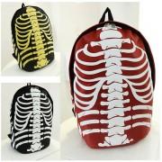Cool Skeleton Multi-Color Halloween Internal Organs Nylon Backpack MC379 GK2 (Free Gift)