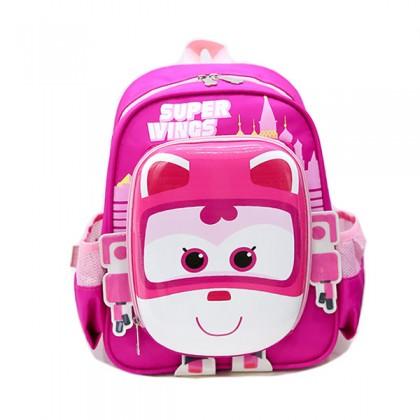 MC378 Unisex Super Wings 超级小飞侠 Cute 3d Hard Cover Super Backpack