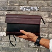 PP382 Man Trending Fashion Leather Hand Carry Clutch Bag LB1