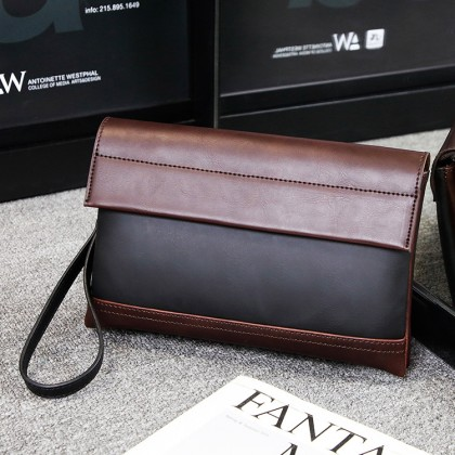 PP382 Man Trending Fashion Leather Hand Carry Clutch Bag