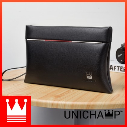 Man Exquisite Black Leather Kangaroo Hand Carry Clutch Bag mc380 LD3