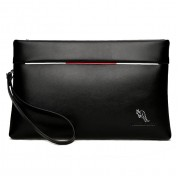 Man Exquisite Black Leather Kangaroo Hand Carry Clutch Bag mc380 LB5