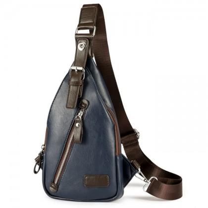 Man Superior Leather Chest Pouch Bag / Delicate Design Trending Fashion Crossbody Bag MC384