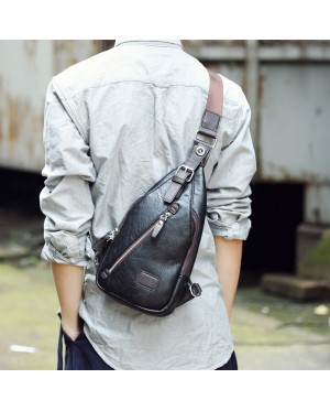 Man Superior Leather Chest Pouch Bag / Delicate Design Trending Fashion Crossbody Bag MC384 E3