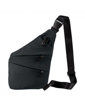 Man Swift Design Elegant Slim Urban Chest Pouch Leahter/Canvas Bag mc385 E3 (Free Gift)