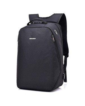 Unisex Black / Grey City Elite Urban Design Smart Backpack mc391 YK2