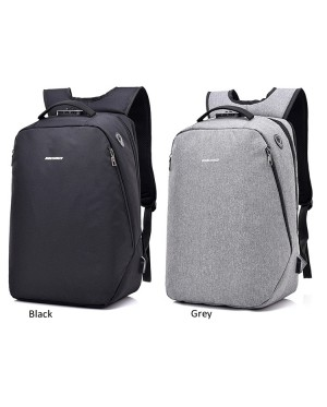 Unisex Black / Grey City Elite Urban Design Smart Backpack mc391 DK1