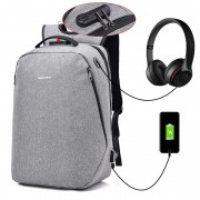 Unisex Black / Grey City Elite Urban Design Smart Digital Backpack mc391 (Free Gift)