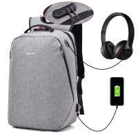 Unisex Black / Grey City Elite Urban Design Smart Digital Backpack mc391 (Free Gift)