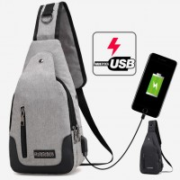 USB Chargin Multipurpose Convenient Urban Chest Pouch Bag mc393