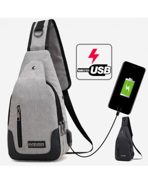 USB Chargin Multipurpose Convenient Urban Chest Pouch Bag mc393 YA1