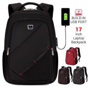 Unisex Multi-Color Durable Waterproof 17 inch Laptop Daily Urban Stylish Quality Backpack mc392 (Free Gift)