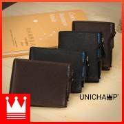 [Authentic] Man Black / Coffee Exquisite Leather Short Wallet MC408 RH2
