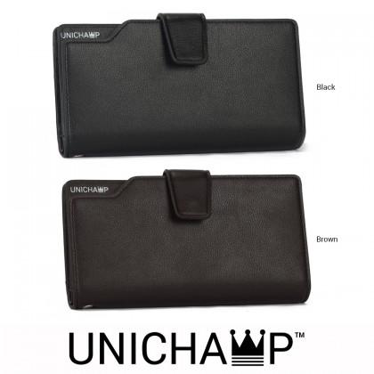[Unichamp] MC407 Man Leather Long Wallet Men Bag Dompet Lelaki WAB