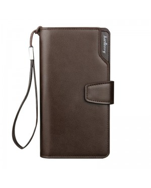 [Authentic] Baellerry Man Black / Coffee Exquisite Leather Long Wallet MC407