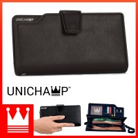 [Unichamp] MC407 Man Black / Coffee Exquisite Leather Long Wallet RH2/RH3