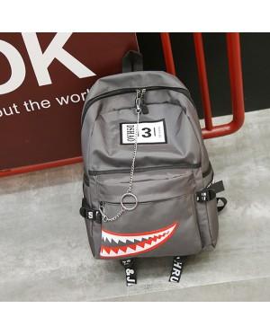 Unisex New Trend Stylish Shark Nylon Fashion Backpack mc396 A4 (Free Gift)