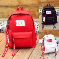 Girl New Fashion Trend Simple Design Long Zipper Strips Nylon Backpack mc398 RA1