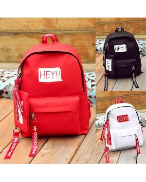 Girl New Fashion Trend Simple Design Long Zipper Strips Nylon Backpack mc398 A4