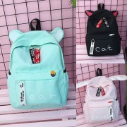 Girl New Trending Design Cute Bear / Rabbit / Cat Daily College School Backpack MC399 (Free Gift)