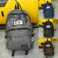 Unisex New Chain Design Fashion College Student Daily Backpack MC397 A4