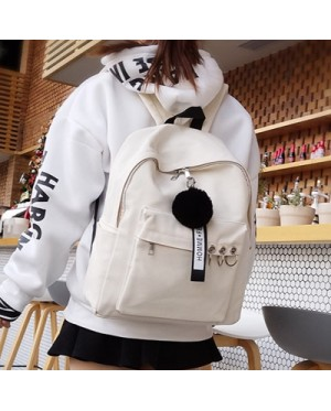 Girl Special Ear-Ring Fashion Design Stylish Daily Canvas Backpack MC406 YL1