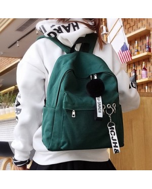Girl Special Ear-Ring Fashion Design Stylish Daily Canvas Backpack MC406 FK2 (Free Gift)